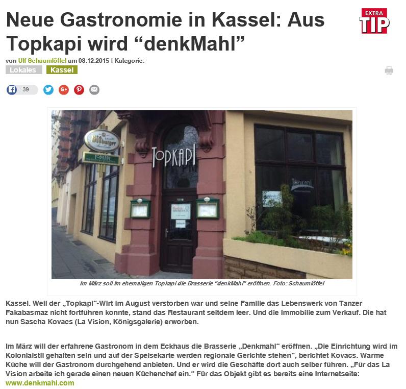 Gespanntes Warten Auf Das Denkmahl Gastro Immobilien In Kassel